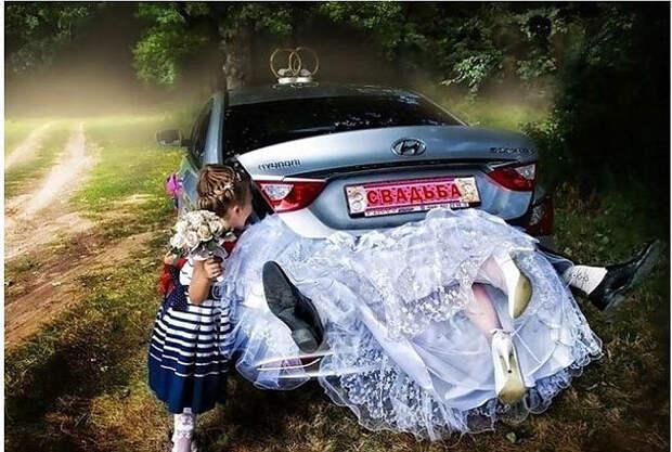 Беспощадный фотошоп российских свадебных фотографов