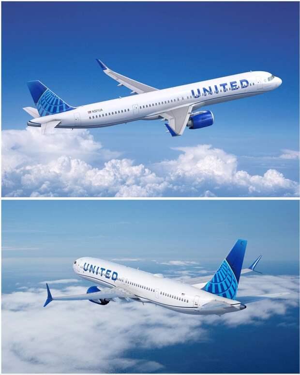 Авиакомпания United заказала 270 самолётов Boeing и Airbus