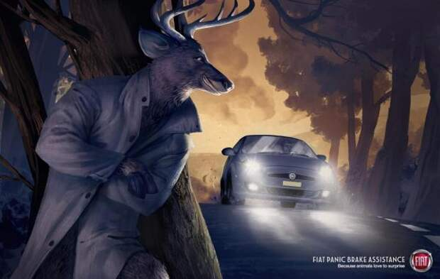 Deer, Fiat, Leo Burnett / Istanbul, FIAT S.p.A., Печатная реклама