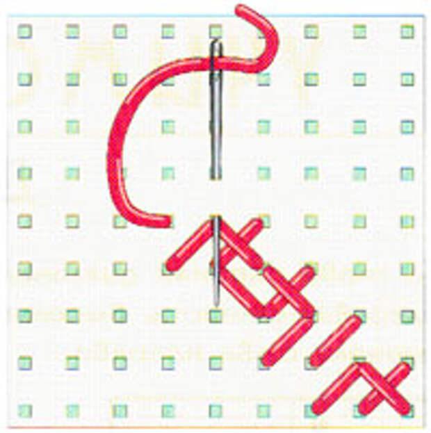 Вышивка крестиком по диагонали. Двойная диагональ справа налево (фото 11)