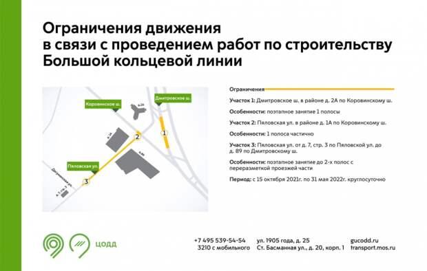 На участке Дмитровского шоссе ограничат движение