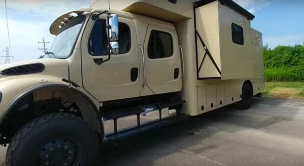 «Военный» дом на колёсах показали на видео
