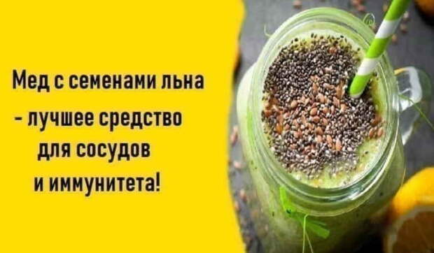 Мед с семенами льна - лучшее средство для сосудов и иммунитета
