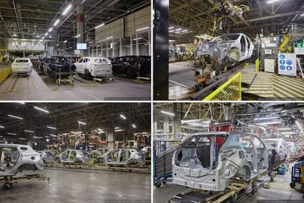 Когда видишь только кузов, не сразу можешь опознать что за модель. На заводе сейчас собираются Qashqai, X-Trail и Murano. nissan, авто, автозавод, автомобили, завод, производство, сборка, цех
