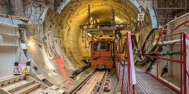 Собянин: Строительная готовность БКЛ метро составляет 54%. Фото: mos.ru