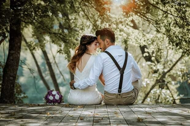 Пара, Свадьбы, Брак, Для Новобрачных, Двухместный