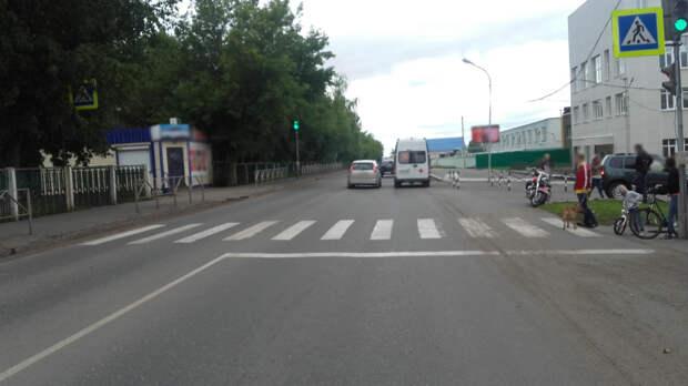 На пешеходном переходе в Сарапуле мотоциклист насмерть сбил женщину