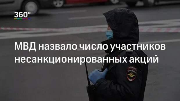 МВД назвало число участников несанкционированных акций