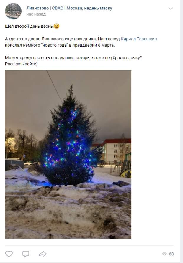 Фото дня: в Лианозове продолжается Новый год