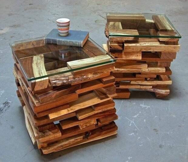 Столики из дерева