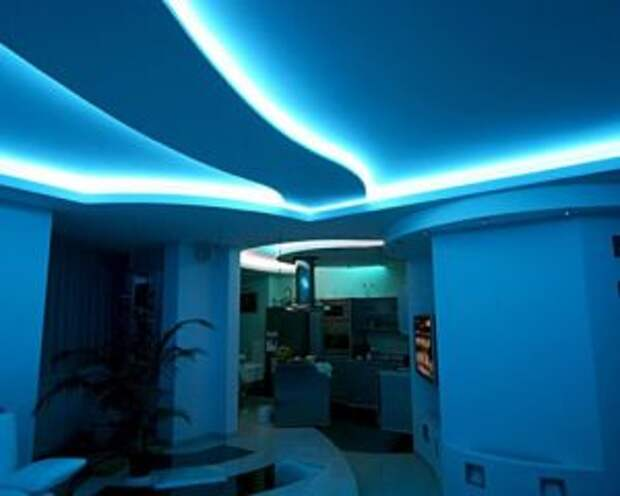 Как сделать неоновую подсветку в потолке