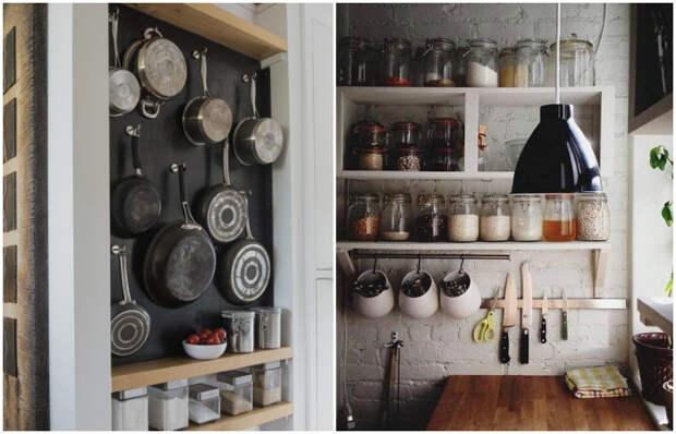 Совсем необязательно прятать кухонные принадлежности.