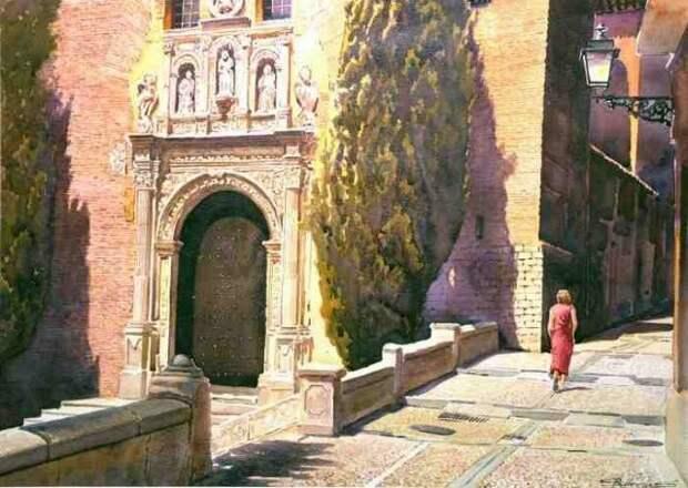 Акварельные картины. Francisco Molina Balderas