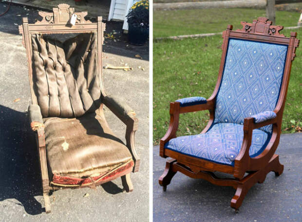 Новый вид потрепанного кресла. | Фото: Izismile.com.