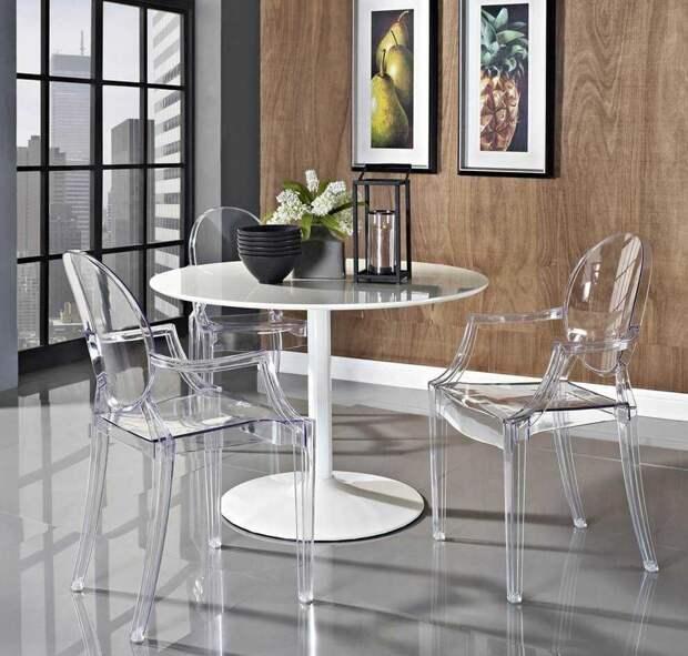 Пластиковая мебель в интерьере