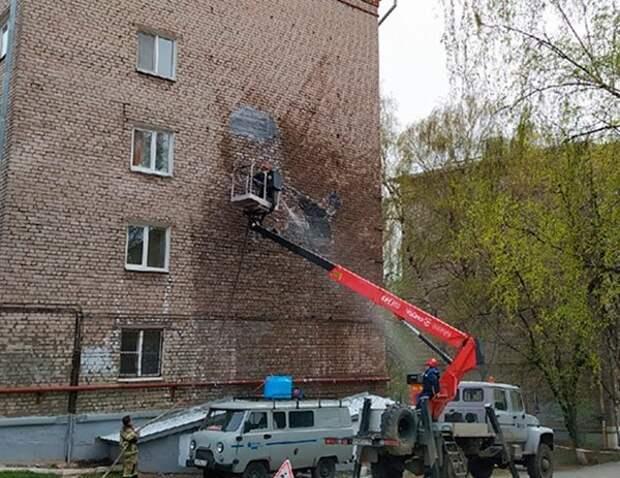 Стёртое граффити на улице Лихвинцева в Ижевске восстановят ко Дню оружейника