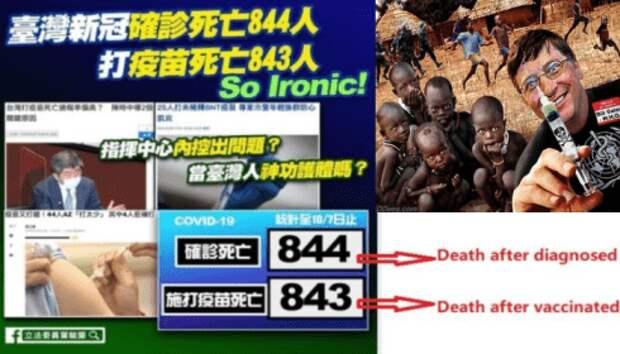 В Тайване число умерших от вакцины превысило число умерших от COVID-19