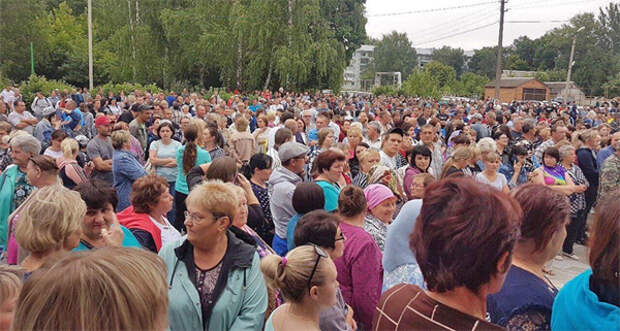 массовый сход жителей в Чемодановке(2019)|Фото: vk.com/udjink
