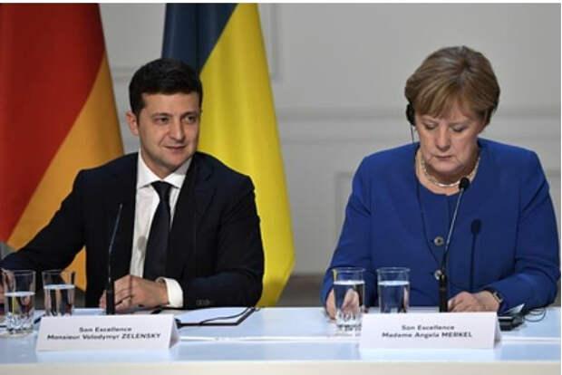 На Украине рассказали о планах Меркель поставить Зеленского перед выбором