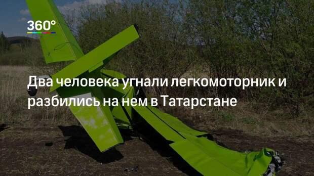 Два человека угнали легкомоторник и разбились на нем в Татарстане