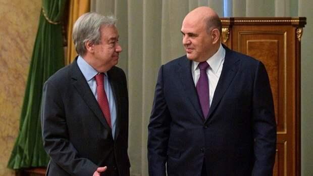 Мишустин призвал ООН принять меры поотказу отодносторонних санкций