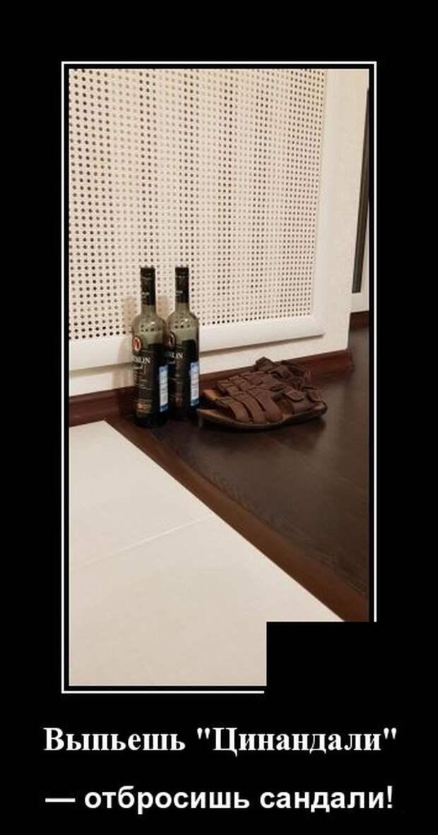 Демотиватор про вино