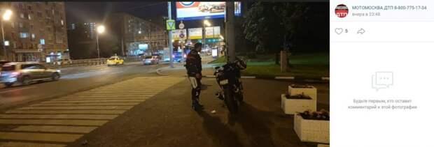 На Сущевском Валу у мотоциклиста сломался байк