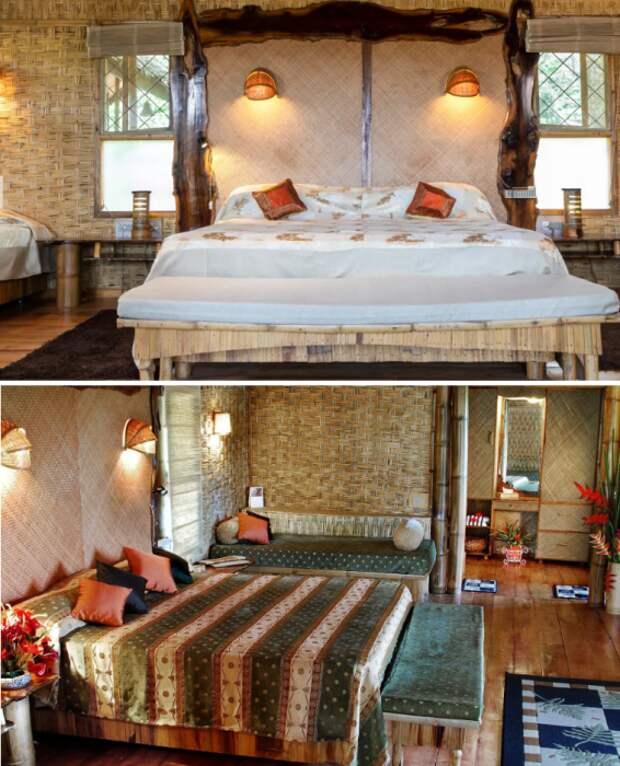 Спальные комнаты в номерах «Tranquil» и «Serene», расположенных на дереве.   Фото: tranquilresort.com.