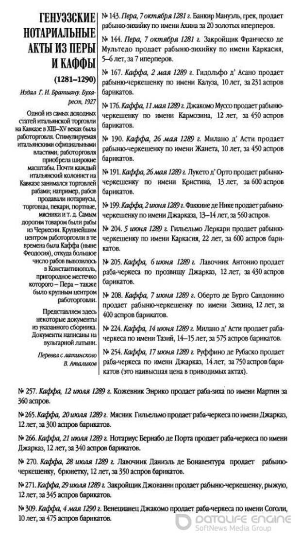 Работорговля на Северо-Восточном Причерноморье во времена монголов