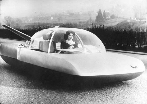 Шоу-модель автомобиля, сделанная французским производителем автомобилей Simca, 1958 год авто, мото, ретро