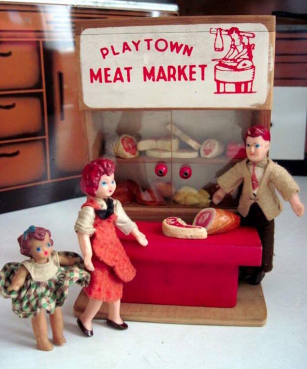 Мясная лавка дети, игрушки, ностальгия