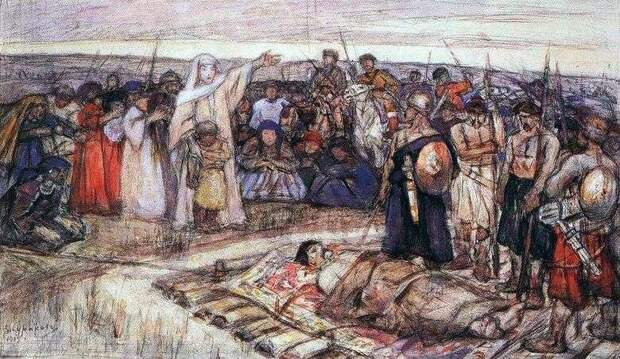 Двойственность образа княгини Ольги: месть за смерть мужа или одержимое помешательство