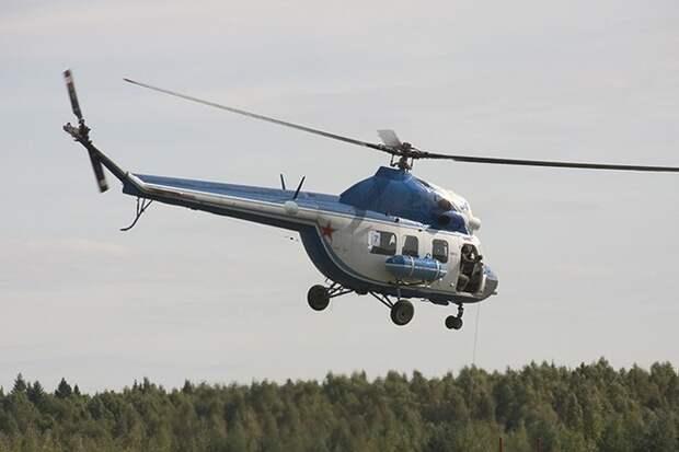 Обгоревший вертолёт Ми-2 нашли на Камчатке