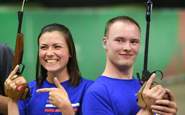 Сборная России по стрельбе завоевала золото чемпионата Европы в соревнованиях смешанных пар