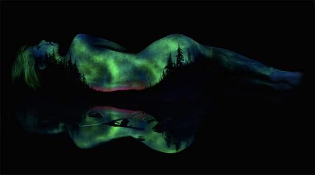 Сказочные пейзажи на телах девушек