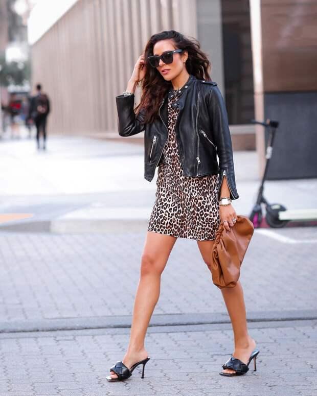 13 крутых и модных примеров с чем носить черную кожаную куртку