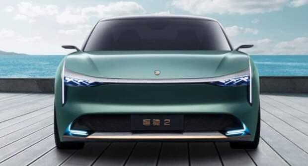 В Шанхае представили новый электрический седан Hengchi 2