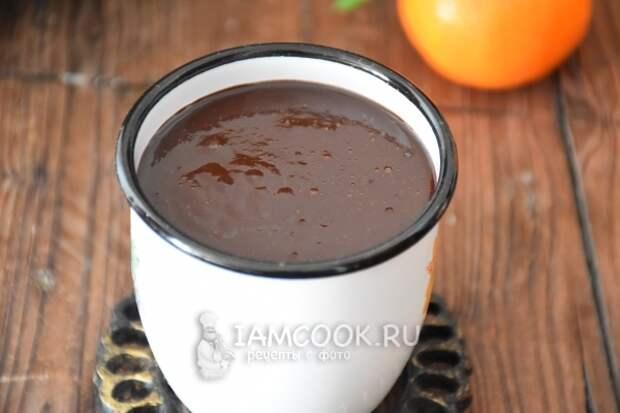 Готовый горячий шоколад с кофе
