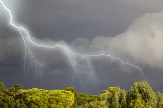 Внимание! В Ивановской области ожидается гроза, град и порывы ветра.