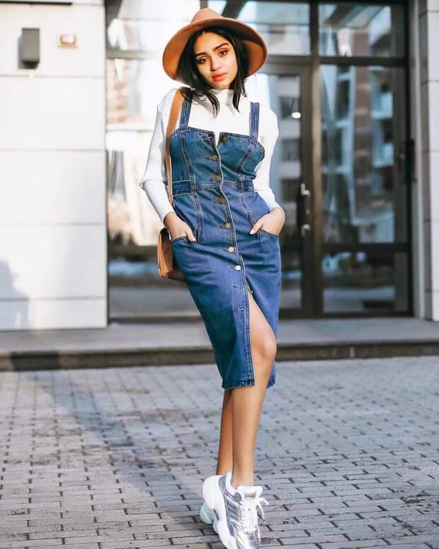 джинсовые сарафаны 2019 фото 2