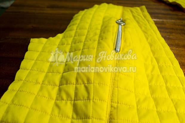 Как сделать карман на молнии на куртке