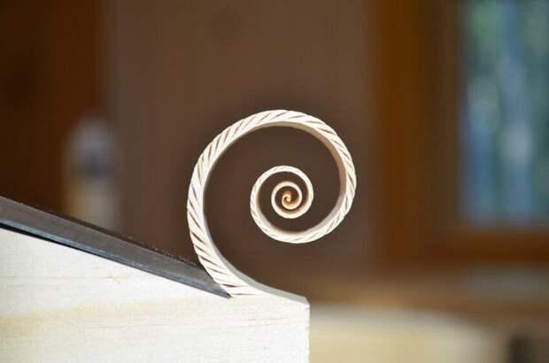 Идеальная спираль древесной щепы