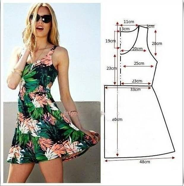 Моделирование женских платьев. Простые выкройки