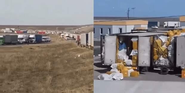Дальнобойщики пожаловались на действия россиян на границе с Казахстаном