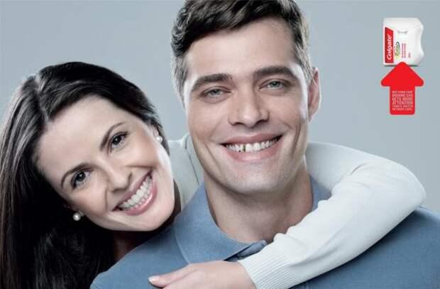 Colgate Total Dental Floss: Photoshop Disasters, 3, Colgate, Y&R Sao Paulo, Colgate-Palmolive Company, Печатная реклама