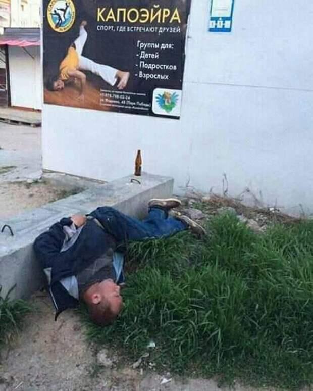 Пьяный пожарный упал с 40-метровой пожарной лестницы, но остался цел...