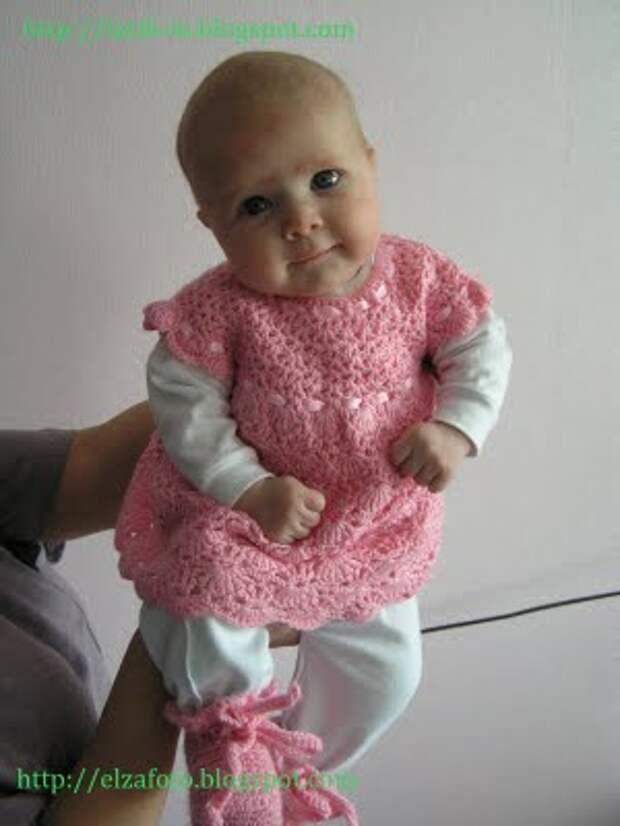Платье малышке от 0-3 мес.