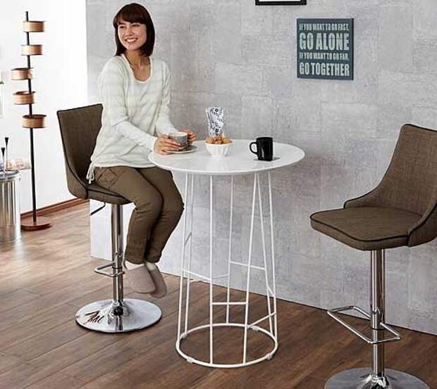 круглый высокий стол для кухни