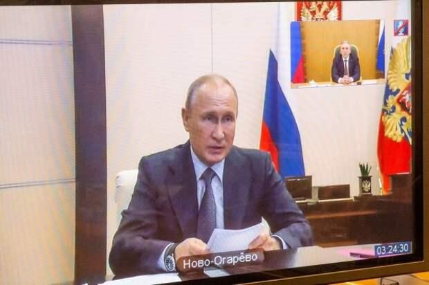 Владимир Путин, Александр Моор(2020)|Фото: Пресс-служба губернатора Тюменской области