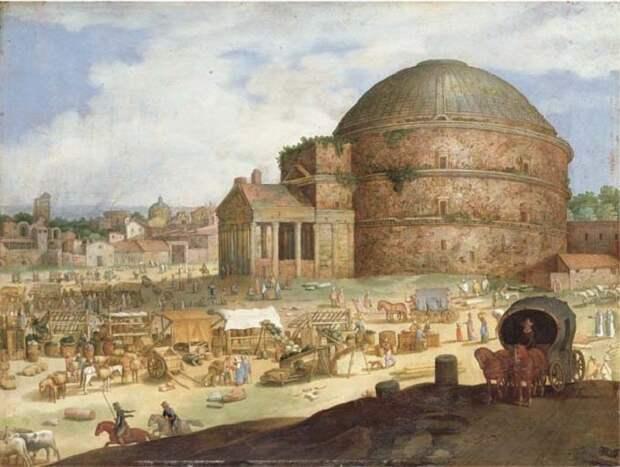 Изображение Пантеона написано голландским живописцем Willem van Nieulandt II (XVII век).   Фото: espavo.ning.com.